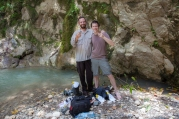 With Rich Glor at new locality for Anolis eugenegrahami - Plaisance, Haiti