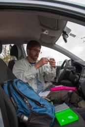 Jason Kolbe taking tissue samples - Vertientes, Cuba