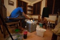 Specimen prep with Bryan Falk and José Luis Herrera - Barahona, Dominican Republic