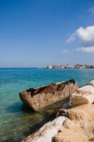 Boat, northwest coast of Cuba